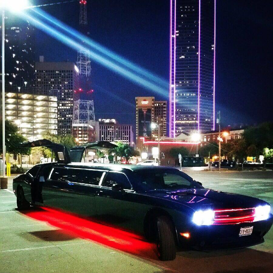 Jeep Halo Lights >> Dodge Challenger Limo Dallas - Dallas Fort-Worth Limo Rental